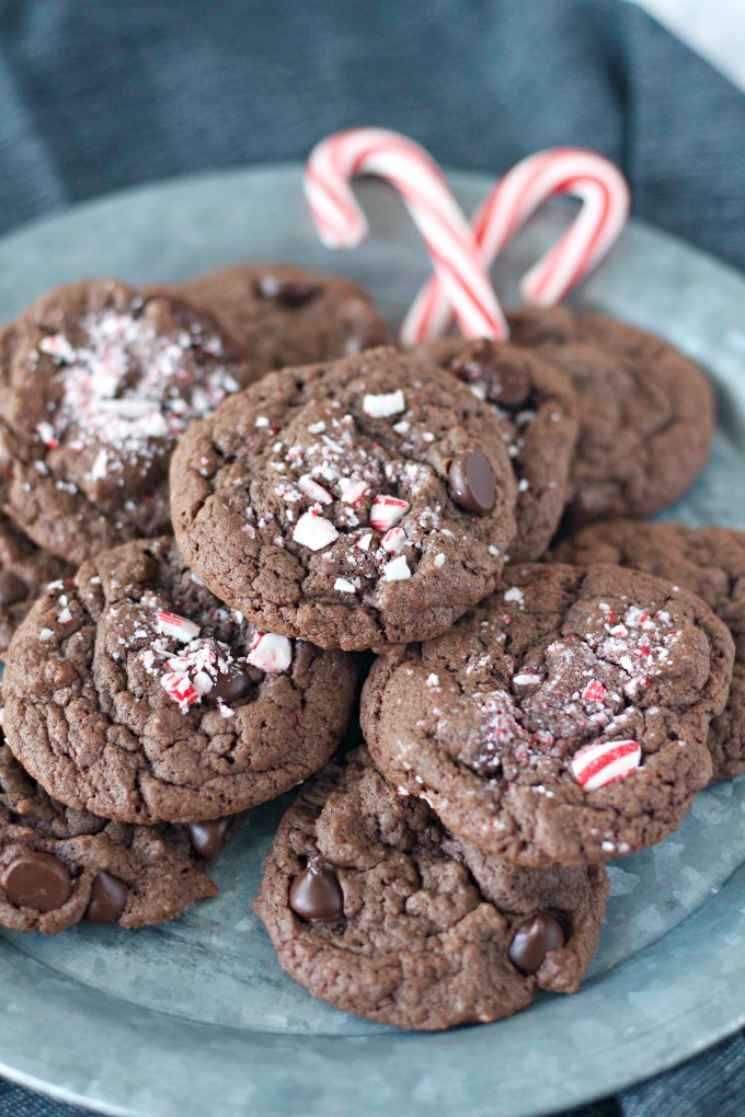 Cake Mix Chocolate Peppermint Cookies