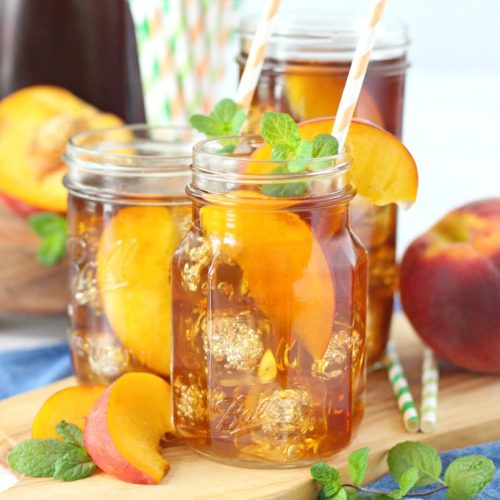Bourbon Peach Sweet Tea Love And Confections