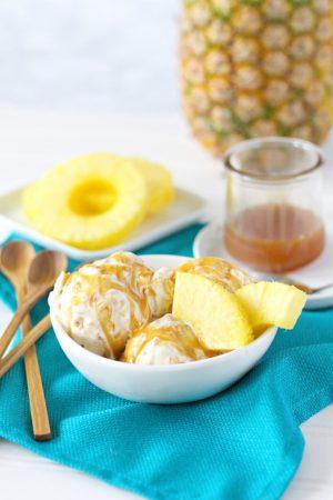 Caramelized Pineapple No-Churn Ice Cream